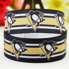 50yards 22mm Pittsburgh Penguins sport team ball printed Grosgrain Ribbon party