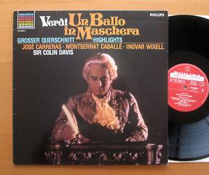 Philips 412 020-1 Verdi Un Ballo In Maschera Carreras Caballe FACTORY SAMPLE LP