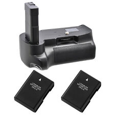 Battery Grip for Nikon D3100 D3200 D3300 + 2x EN-EL14a Li-Ion Batteries