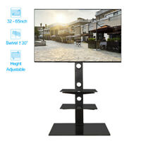 "Universal 3 Tier Shelf Floor TV Stand Swivel Mount for 32"" - 65"" Screens TVs"