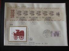 Enveloppe 1er jour -  bande carnet - Journée du timbre - 1988