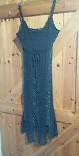 "Stunning Emerald Green Crochet Dress By Top Shop Size 8 Chest  32"" - 34"" Approx"