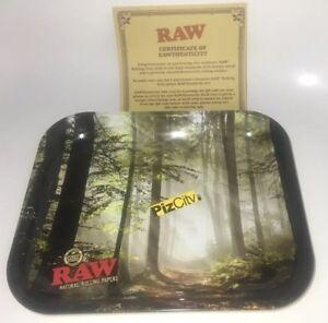 RAW Forest Medium Metal Rolling Tray 340mm x 280mm w/Certificate