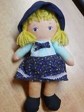 Vecchia bambola in stoffa KNICKERBOCKER BEAN BAG vintage d epoca campagnola di