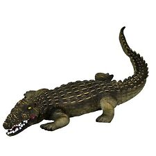 """Large 23"""" (46 cm) Crocodile Stuffed Rubber Realistic Details Play Toy Museum"""