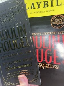moulin rouge re opening night broadway musical playbill and flyer Insert Sept 21