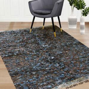 Modern floor rugs Leather Shag Area Carpet Anti-slip fluffy rugs online AU 14-42