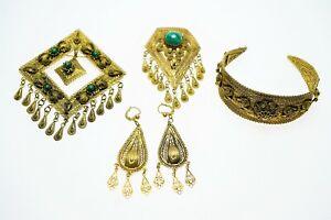 Konvolut Filigranschmuck 925-er Silber vergoldet Eilat Israel