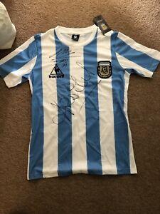 Diego Maradona & Ossie Ardilles Signed Shirt, No COA