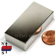 """Neodymium Magnets N50 2x1x1/2""""  NdFeB Strong Magnet for Wind Turbine 2 PC"""