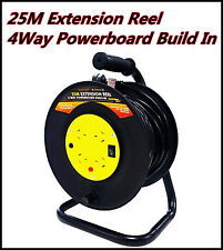 25M Extension Lead Extension Reel 4Way Powerboard Built In