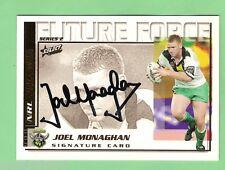 2002  CANBERRA RAIDERS RUGBY LEAGUE SIGNATURE CARD - FF20  JOEL MONAGHAN