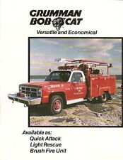 Fire Equipment Brochure - Grumman - Bob Cat - Longport Eastover - 1986 (DB29)