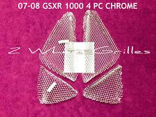 2008 SUZUKI GSXR GIXXER 1000 CHROME FAIRING GRILLS SCREENS VENTS MESH GRATES