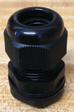 "1/2"" NPT (Small) - Strain Relief, Cord Grip, Cable Gland w/nut + gasket - NEW"