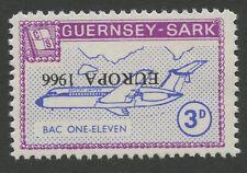 Guernsey SARK 1966 Europa 3d INVERTED ovpt ERROR