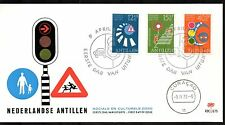Dutch Antilles - 1973 Welfare / Traffic safety Mi. 263-65 clean unaddressed FDC