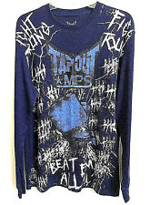 TAPOUT Women Graphic Top Sweat Shirt Size XL - Navy Blue NEW