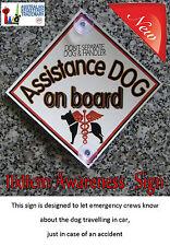 Assistance Dog Car Awareness Sign