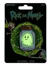 Accessories Rick and Morty - Ghost in a Jar Glow-in-the-dark Enamel Pin