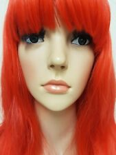 Red Wig Synthetic Hair Long Bangs Fringe little mermaid costume wig