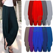 Ladies Gathered Draped womens  Baggy Harem Pants Trousers Lagenlook Alibaba 8-26