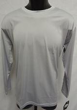 Easton Spirit Long Sleeve Jersey T Shirt Tee Bio-Dri UV Protection L GREY