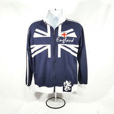 England Soccer Track Warm Up Zip Up Blue Jacket Mens Size Medium