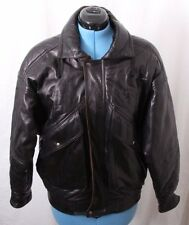 Bally Vtg Italy Full Zip Pocketed Bomber Flight Leather Jacket Coat Men's 36