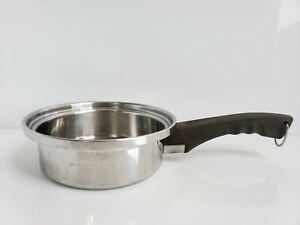 Vintage Lustre Craft Stainless Steel 3 Ply 1 Quart Saucepan USA