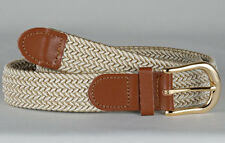 White & Beige STRETCH  Casual Business BELT XL 42 44