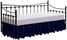 Bed Skirt for Day Beds Split Corners Poly Cotton/Microfiber Navy Blue Twin- 14�
