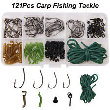 Carp Fishing Tackle Accessories Kit Rig Ring Stops Boilie Bait Screw Hook Sleeve