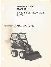 New Holland L 250 Skid Steer Loader Operators Manual