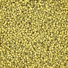 Miyuki Delica Seme Perline 1.6mm Taglia 11/0 ZINCATO OPACO Scorza TUBO 7.2g (j95/4)