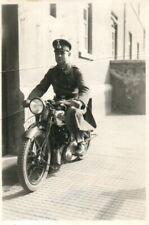 Foto, Unteroffizier auf Motorrad NSU, (N)20511