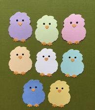 8 BABY OWL DIE CUTS EMBELLISHMENTS SCRAPBOOKING PAPER OWLS BIRDS
