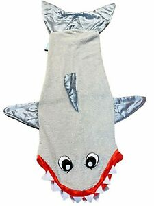 Snuggie Shark Tail Soft Fleece Blanket Sack -Child Size- Snuggle in Sleeping Bag