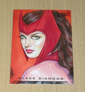 2021 UD Marvel Black Diamond sketch Veronica O'Connell SCARLET WITCH 1/1