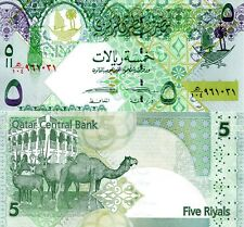 QATAR 5 Riyal Banknote World Paper Money UNC Currency Pick p29 2015 Camel Bill