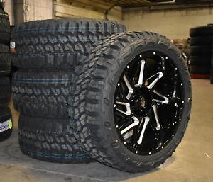 "22x10 Vision 361 Spyder Black Wheels Rim 33"" MT Tires 6x135 Ford F150 Expedition"