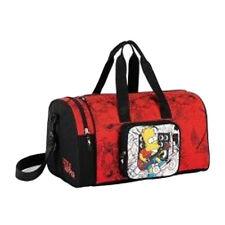 SIMPSON reisetasche orange und nero reise/freizeit/fitnessstudio in stoff