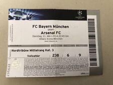 Orig.Ticket  Champions League 13/14   BAYERN MÜNCHEN - ARSENAL FC  !!  SELTEN