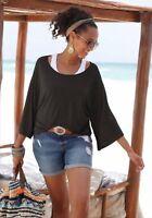 Beach Time Shirt Beach Shirt + Top Black - White 2