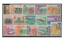 Dominica 1951 KGVI Pictorial Set of 15 Stamps To $2.40 SG120/34 MLH 10-12