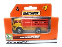 Matchbox MBX Superfast 1999 No 1 Dodge Cattle Truck yellow red German issue