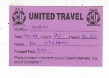 CAMBRIDGE UNITED TRAVEL TO WOLVERHAMPTON WANDERERS FA CUP 5/1/2008  TICKET