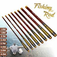Portable Telescopic Fishing Rod Carbon Fiber 1.5M~4.5M lightweight Travel
