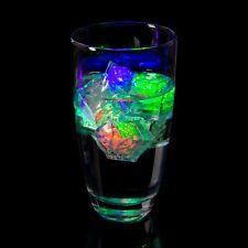 24 Pcs LED Ice Cubes Flashing Light up Bar Water Submersible Liquid Sensor Cube