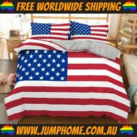 USA Flag Bedspread Set - Duvet Cover, Quilt *FREE WORLDWIDE SHIPPING*